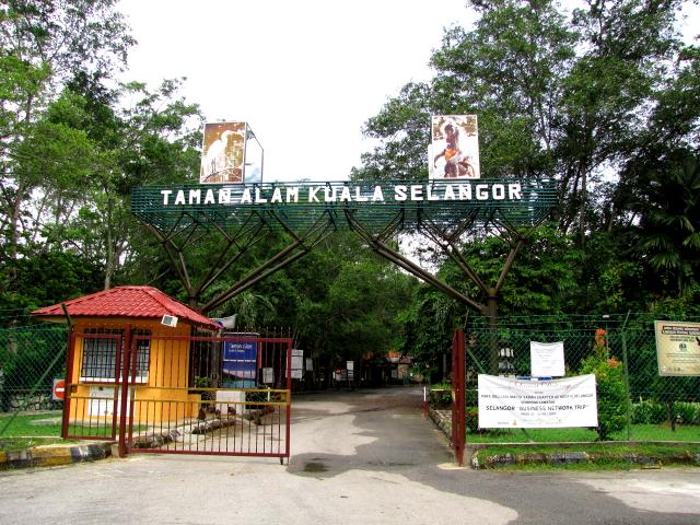 クアラ・セランゴール自然公園のゲート前